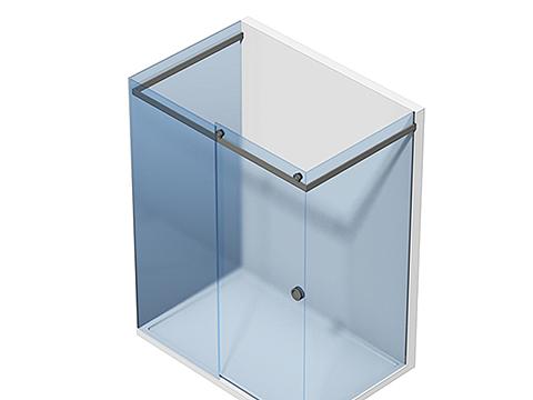 П-образное стеклянное душевое ограждение Тип 405