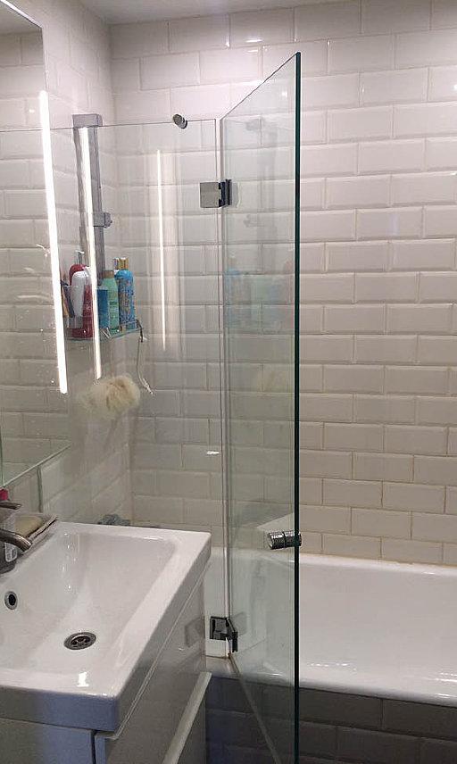 Стеклянная шторка для ванны Flamea от PS