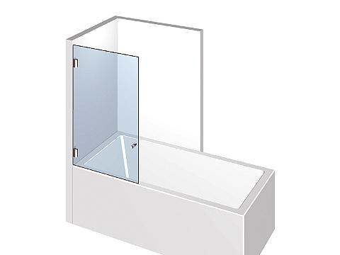 Стеклянная душевая шторка на ванну Тип 301