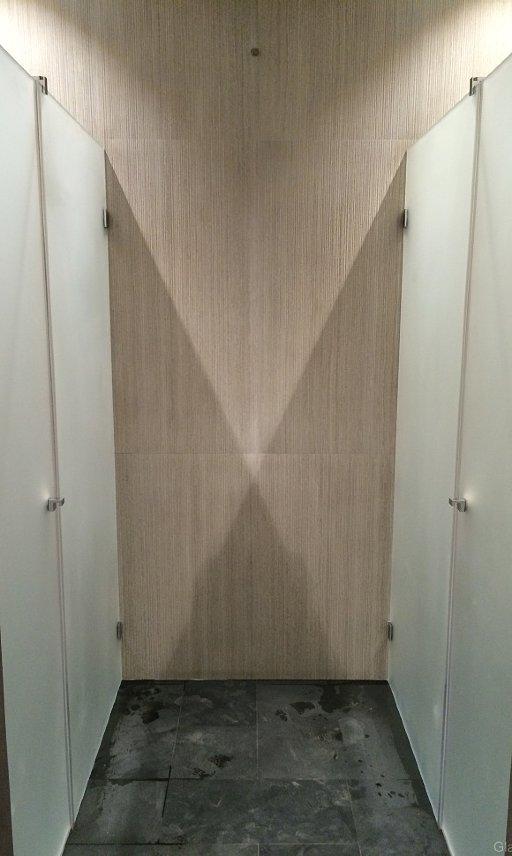 Стеклянные душевые двери в нишу