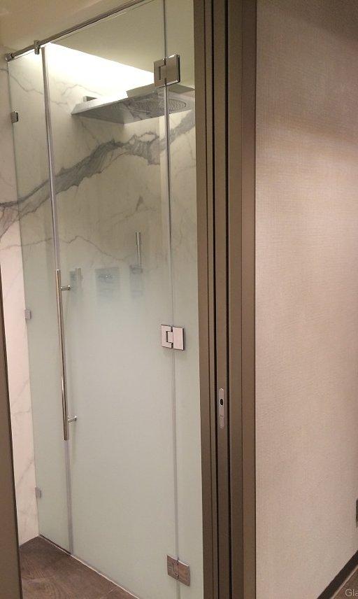 Душевыая дверь из стекла в нишу
