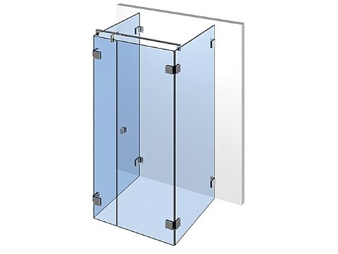 П-образное стеклянное душевое ограждение Тип 401