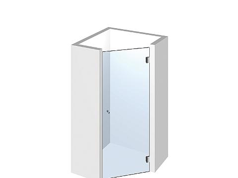 Пятиугольное стеклянное душевое ограждение Тип 503