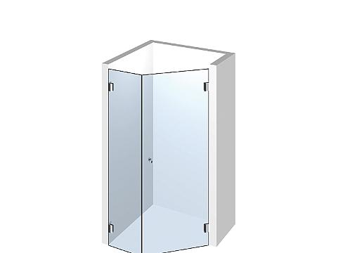 Пятиугольное стеклянное душевое ограждение Тип 505